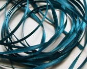 """1/8"""" Double-Faced Satin Ribbon in Teal - 10 yards"""
