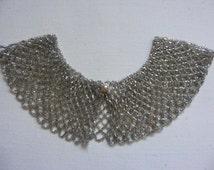 Vintage Baar and Beards Inc Top Hit Beaded Glass Collar Accessory Sparkly