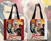Brussels Griffon Art Tote Bag - Rebecca Movie Poster NEW Collection by Nobility Dogs