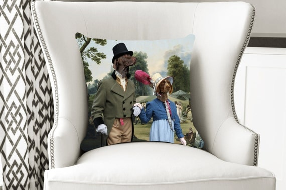 German Shorthaired Pointer Art Pillow Case NEW Collection by Nobility Dogs