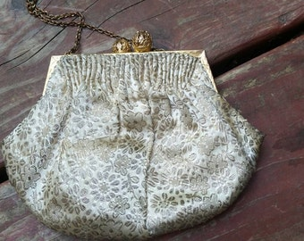 Vintage brocade clutch purse