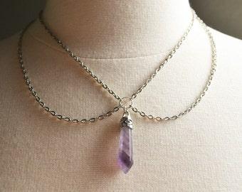 Amethyst Crystal Collar Necklace