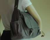 NEW YEAR SALE 30% - Pico2 in Wax Grey Purse / Laptop / Shopping Bag / Shoulder Bag / Messenger Bag / Handbag / Travel / Wallet / Diaper Bag