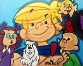 Dennis the Menace Original Painting by Urban Picasso