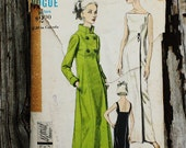 Vogue Special Design 6368 1960s 60s Evening Gown Cocktail Dress Double Breasted Coat Jacket Vintage Sewing Pattern Size 12 Bust 32