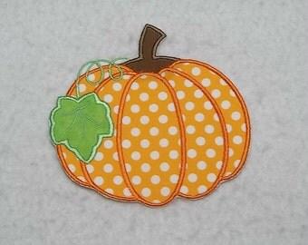 Pumpkin (small) Tutu & Shirt Supplies - fabric iron on Applique Patch 7970