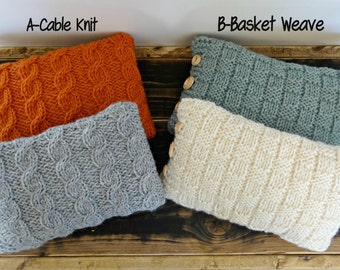 Knitted Mini Pillow Case Only Photography Prop, Any Color, MADE TO ORDER