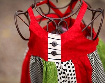 JIngle Bells Knot Dress with Button Accents   Great for layering