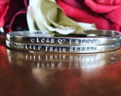 Gorgeous Handstamped Stacking Bangle