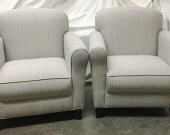 Pair of Compact Bernhardt Club Chairs - Totally Refurbished