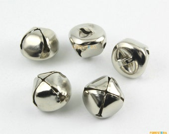 50Pcs 20mm Silver Bells Jingle Bells Pet Bells Cross Bells (YSSZLD20)