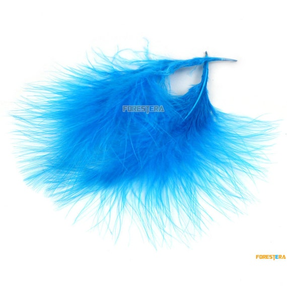 50 Pieces Lack Blue Feather 8 16cm Ym285 From Forestera
