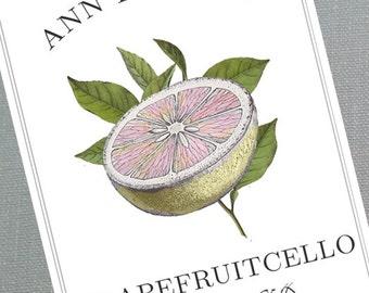 Grapefruitcello labels,pompelmocello labels, Frapfruit set of 18