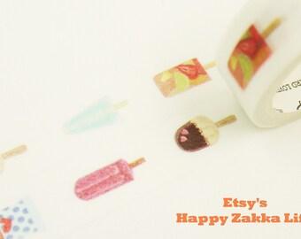 Popsicle - Summer Collection - Japanese Washi Masking Tape - 7.6 yards