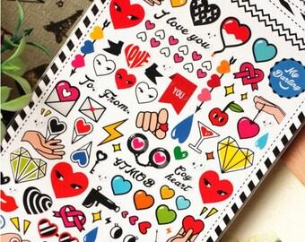 Coquettish eyes - Sonia Stickers - Translucent Deco Sticker - 1 Sheet