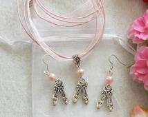 Ballet Set of  Necklace and Earrings.