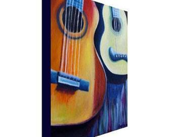 Guitars Print on Canvas