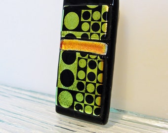 Dichroic Fused Glass Money Clip Mens Accessories Womens Accessories Jewelry for Him Jewelry for Her Gifts for Him Under 25 Dollars