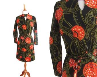 Vintage 1960s Long Sleeve Mini Dress