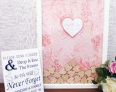Beautiful Personalised Floral Drop Box Alternative Guest Book Kit - Available in 2 sizes