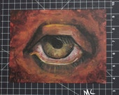 Red Eye Original Painting Horror Lovecraft Poe