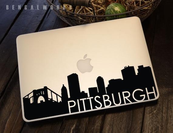 Pittsburgh Skyline Macbook Decal 3 | Macbook Sticker | Laptop Decal | Laptop Sticker | Car Sticker