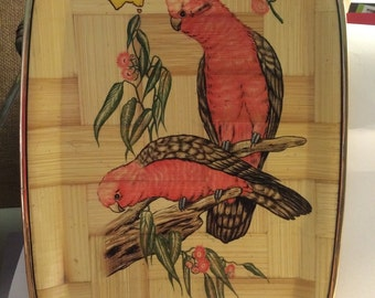 Vintage Pink Parrot Serving Tray Australia