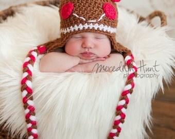 Gingerbread Girl Earflap Hat
