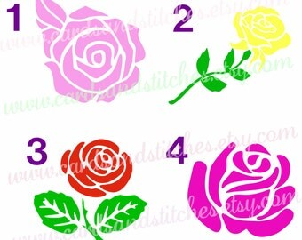 Rose Vinyl Decal - Roses Decal - Vinyl Decal - Car Decal - Yeti Decal OR Rose Iron-On Transfer - Iron-on Transfer - DIY Iron-on Transfer