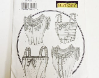 Butterick 3765 Historical Camisole Pattern, Size Misses 18, 20, 22 Victorian Edwardian Undergarments, Chemise Costume Pattern itsyourcountry