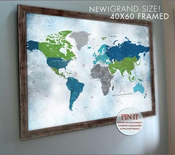 World map wall art push pin world map world wall art world like this item sciox Images