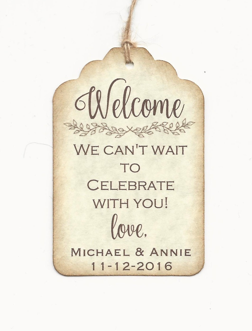 Wedding Favor Bag Labels : 20 Welcome Bag Tags Wedding Favor Tags personalized custom