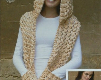 Knitting Pattern For Ladies Hood : Big hood Etsy