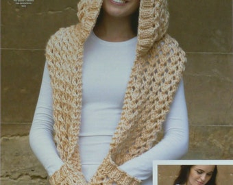 Knitting Pattern Scarf With Pockets : Big hood Etsy