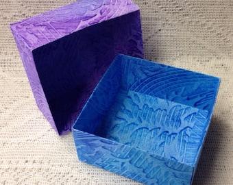 Origami Masu Paste Paper Box-Purple & Blue