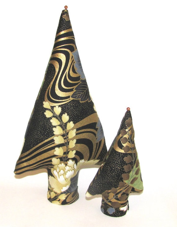 Set of 2 Fabric Centerpiece Place Card Holder Ring Earring Display TALL & itty bitty Styles TREE-Stands