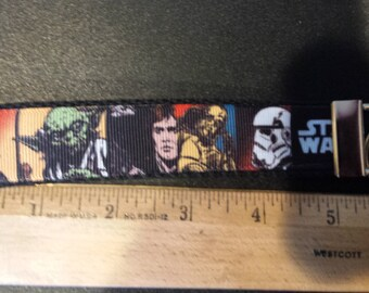 Star Wars Inspired Key Fob, Wristlet, Keychain with Black Webbing