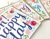 SALE MULTIPACK Christian Square Greetings Cards Baptism Birthday Encouragement Wedding Cards. Religious. Dedication. Hand Lettered Scripture