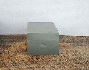 Vintage Grey File Index Storage Metal Box GWS 835