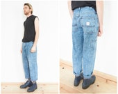 90s Acid Wash Denim Carpenter Jeans / 28-29 Waist
