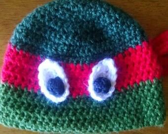 Crocheted Mutant Ninja Turtles Hat