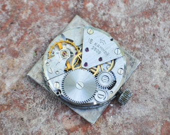 Vintage Soviet wrist watch movement.Raketa 2809.