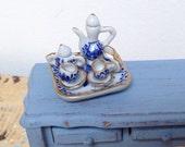 Vintage small dollhouse miniature tea set