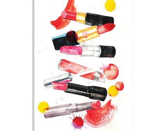 iCanvas Lipsticks Collection Gallery Wrapped Canvas Art Print by Rongrong DeVoe