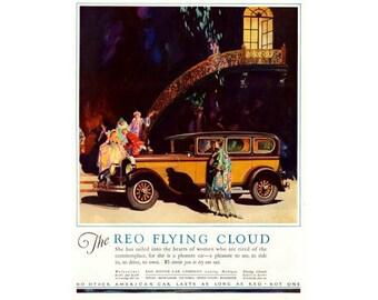 Instant Download Printable Art, REO Flying Cloud, Classic Car, Wall Art Decor, Digital Download