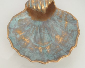 Stangl Gold Shell Dish