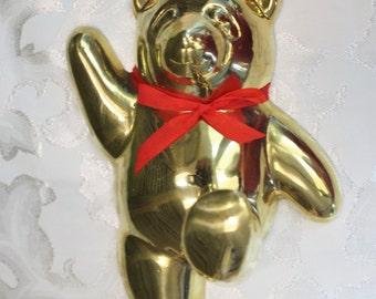 Brass Bear Hook, Wall or Robe Hook, Nursery Decor, Panda Bear