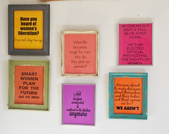 "Womens Rights - Choice - Inspired 8""x10"" Digital Prints - Set of 6 - Assorted Bright Gender Neutral Color Card Stock"