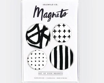 Black + White Magnets