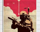 "Star Wars Boba Fett Vintage 11""X17"" Poster Print"